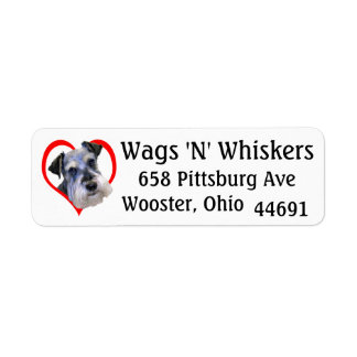 """""""Wags 'N' Whiskers"""" Return Address Label"""