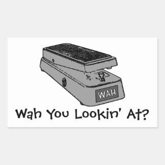 Wah You Lookin' At? Rectangular Sticker