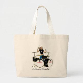 Waheela Drummer Girl Large Tote Bag