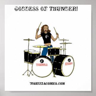 Waheela Drummer Girl Poster