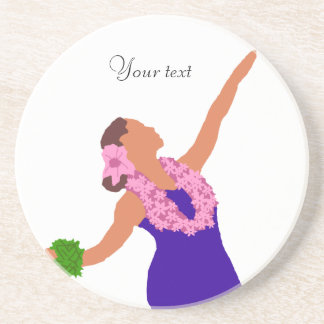 Wahine Hula Dancer, Your text coaster