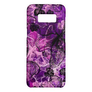 Wahine Lace Hawaiian Orchid Floral in Purple Case-Mate Samsung Galaxy S8 Case