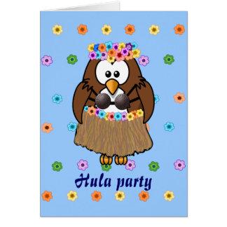 wahine owl greeting card