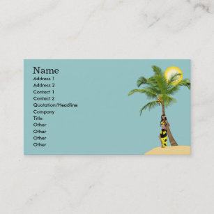 Coconut tree business cards zazzle au wahine pinup coconut tree business cards blue colourmoves