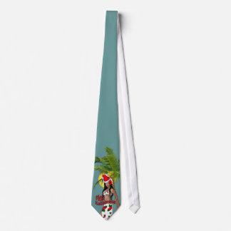 Wahine Pinup Mele Kalikimaka Christmas Tie 2