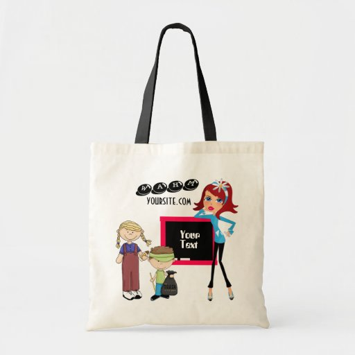 WAHM advertising  Budget Tote Tote Bags