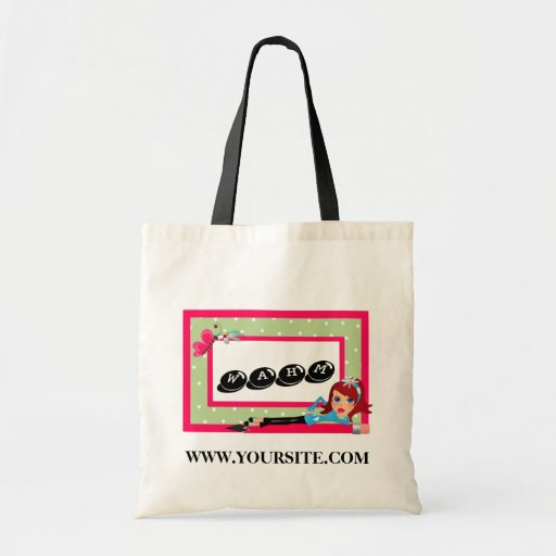 WAHM advertising  Budget Tote Bags