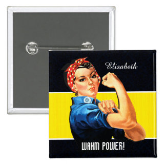 WAHM Power! - Work at Home Mom Pinback Buttons