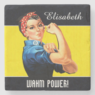 WAHM Power! - Work at Home Mom Stone Coaster