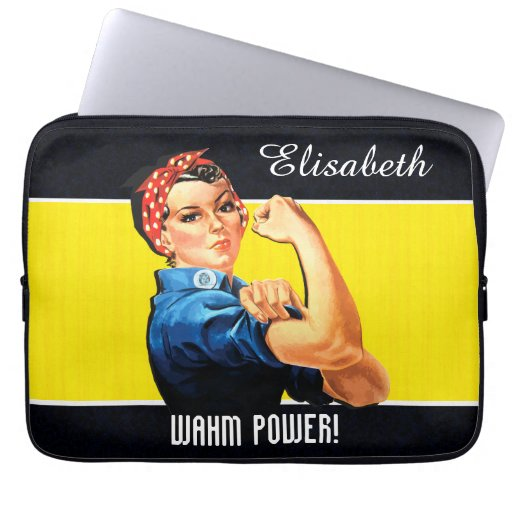 WAHM Power! - Work at Home Mom Laptop Computer Sleeves