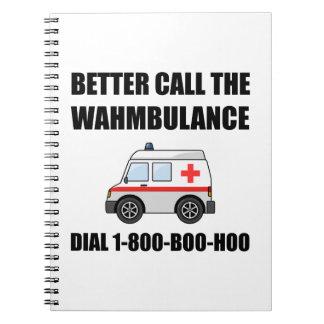 Wahmbulance Boo Hoo Note Book