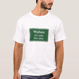 Wahoo Nebraska City Limit Sign T-Shirt