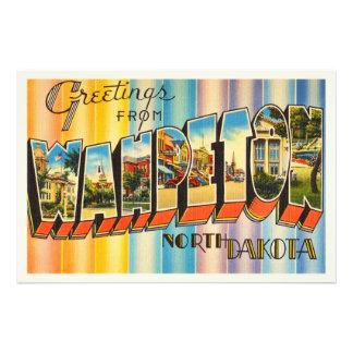 Wahpeton North Dakota ND Vintage Travel Souvenir Photo Print
