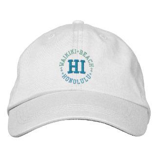 WAIKIKI BEACH 3 cap Embroidered Baseball Caps