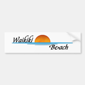 Waikiki Beach Bumper Sticker