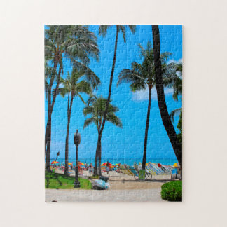 Waikiki Beach Hawaii Honolulu. Jigsaw Puzzle