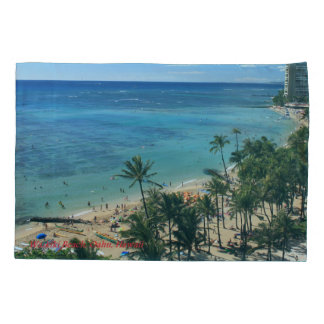 Waikiki Beach Hawaii Pillowcase