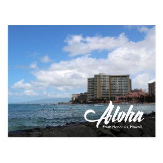 Waikiki beach Honolulu Hawaii postcard