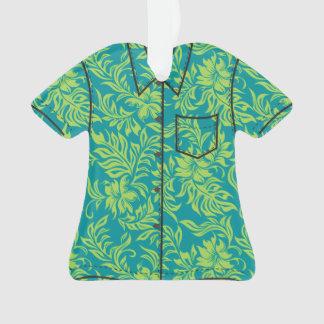 Waikiki Hibiscus Hawaiian Pareau Flora Aloha Shirt Ornament