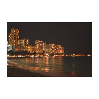 WAIKIKI NIGHT LIFE CANVAS PRINT