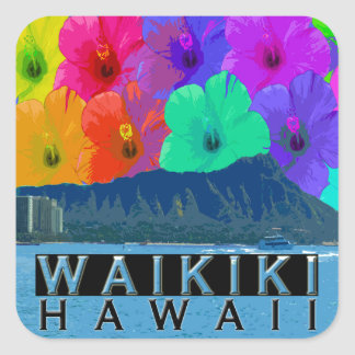 Waikiki Square Sticker