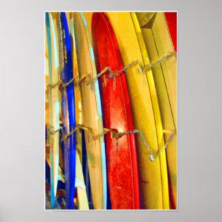 Waikiki Surfboards Print