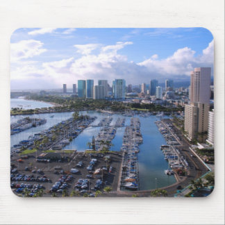 Waikiki Yacht Harbour Mouse Pad