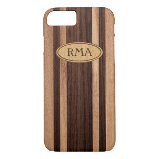 Waikokos Hawaiian Faux Wood Surfboard Monogram iPhone 8/7 Case