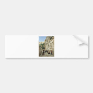 Wailing Wall by Gustav Bauernfeind Bumper Stickers