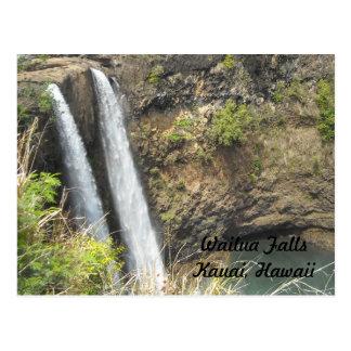 Wailua Falls Kauai, Hawaii Postcard