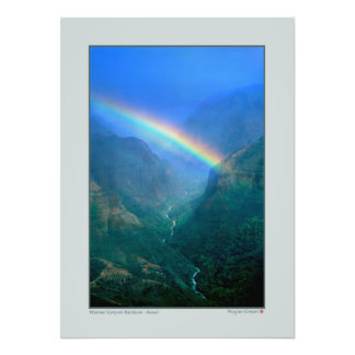 Waimai Canyon Rainbow - Kauai Photo Print