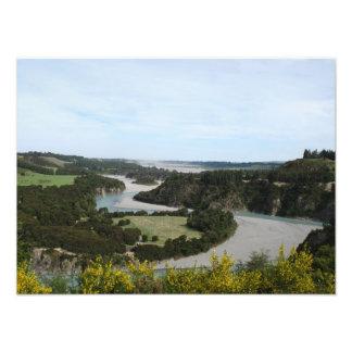 Waimakariri river Southern Alps New Zealand Photographic Print
