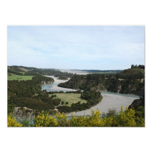 Waimakariri river, Southern Alps, New Zealand Photographic Print