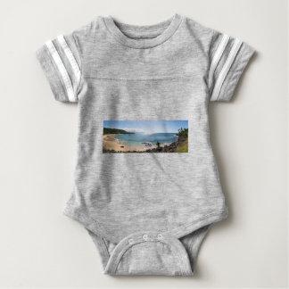 waimea bay panorama baby bodysuit