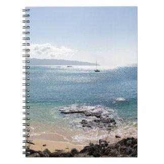 waimea bay panorama notebook