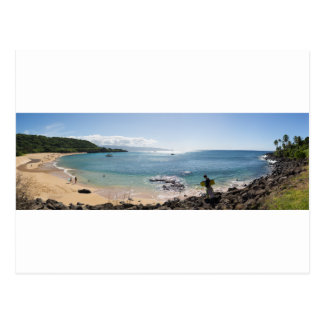 waimea bay panorama postcard