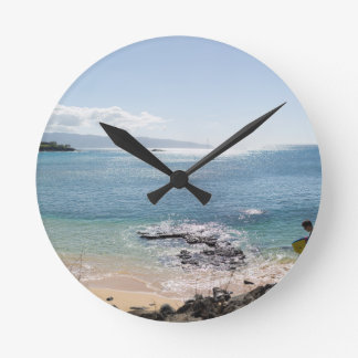 waimea bay panorama round clock