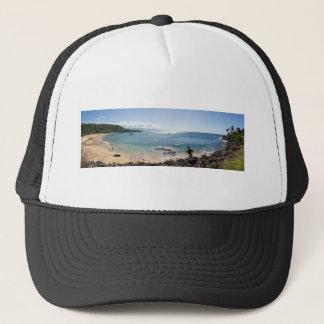 waimea bay panorama trucker hat