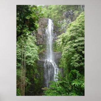 Waimea Falls, Hana, Maui, Hawaii Poster