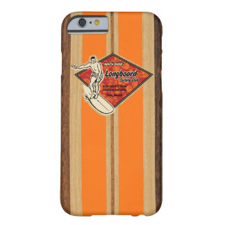 Waimea Surfboard Hawaiian Faux Wood Barely There iPhone 6 Case