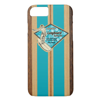 Waimea Surfboard Hawaiian Faux Wood iPhone 7 Case