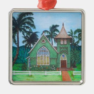 Wai'oli Hui'ia Church Metal Ornament