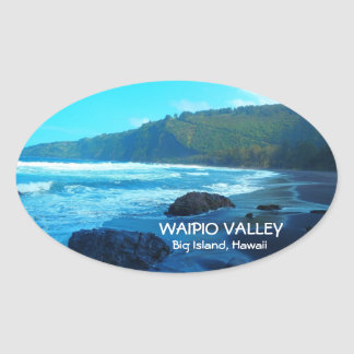 Waipio Valley Big Island Hawaii scenic stickers