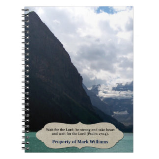 Wait for the Lord Mountain Scripture Personalized Notebook