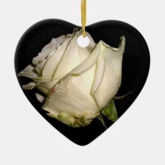 Wait rose ceramic heart decoration