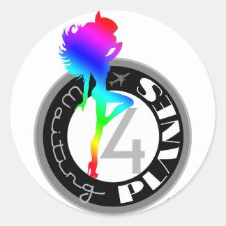 Waiting 4 Planes ® Rainbow Sticker