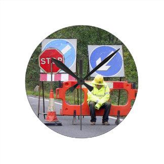 waiting at Stop sign clock
