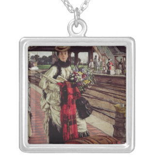 Waiting at the Station Silver Plated Necklace