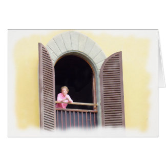 Waiting for Good News in Florence, Italy Greeting Card