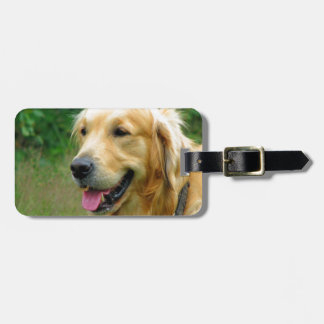 waiting for mom love golden retriever luggage tag